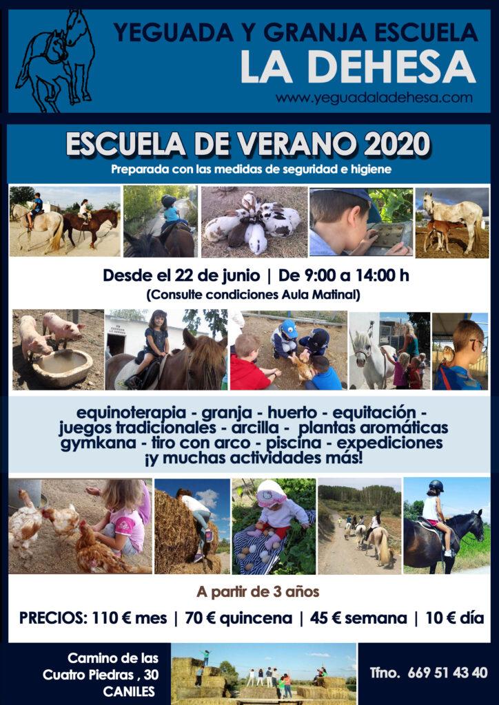 La Yeguada y Granja Escuela La Dehesa ofrece Escuela de Verano